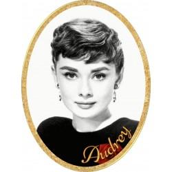 Médaillon Funéraire Ovale Vertical 6 x 8 cm Photo Personnalisé Audrey Hepburn