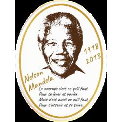 Médaillon Funéraire Photo Ovale Vertical 15 x 20 cm Personnalisé Nelson Mandela